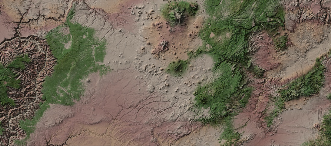 90m elevation data arizona